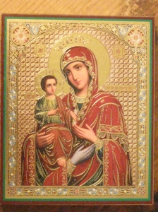 Icon of Jesus and Mary, three hands